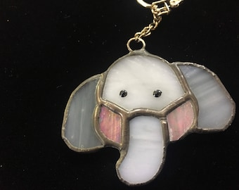 Elephant Keyring - Stained Glass