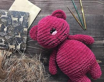 Cat Crochet kitty-gift-plush-Doll-Amigurumi-Toy-knitted