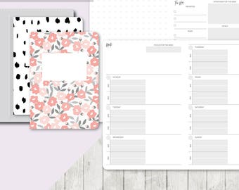 TN POCKET Size: Undated Week on 2 Pages Functional Collab, Printable Travelers Notebook Insert, Pocket TN, Printable Planner, Weekly, Wo2P