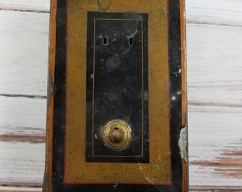 Vintage Metal Safe Deposit Box, Use for Storage, Altered Artwork, Vintage Assemblage