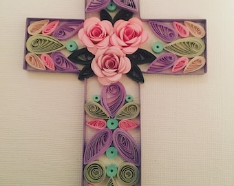 Quilled Cross Wall Art