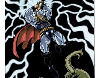 Thor vs. Loki poster