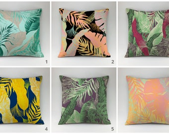Tropical pillows cover Floral pillowDecorative pillow flower Throw pillow  exotic cushion cover nature pillow botanical pillow accent pillow