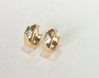 18ct 18K 750 Yellow Gold Hoop Earrings Huggie Jewellery Genuine NEW