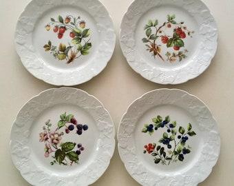 French Dansk International Berry Plates (set of 4)