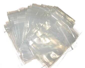 Zip Lock Poly Bags Recloseable Bulk Plastic Baggies 2 mil 100 Packs - 3 Sizes