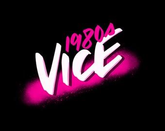 80s Vice  – A retro script brush-pen for Procreate (iPad Pro)