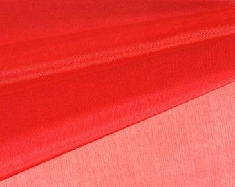 Red Organza Fabric by the Yard, Wedding Decoration Organza Fabric, Sheer Fabric - Style 1901