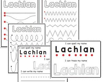 Preschool Writing Paper Lined Paper for Kindergarten