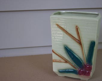 Vintage vase, arts and crafts style