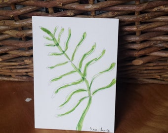 Tiny watercolor fern