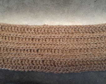 Alpaca headband - headband do crochet - natural color - size small adult or teen