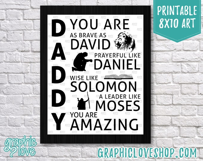 "Featured listing image: Printable Christian ""Daddy You Are""