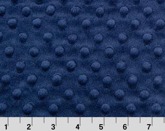 Navy Dot Minky Fabric - Shannon Fabrics minky dot fabric by the yard