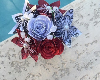 Origami Paper Flower Bouquet/ origami flowers, kusudama, paper bouquet, origami bouquet, paper flowers, paper flower centerpiece