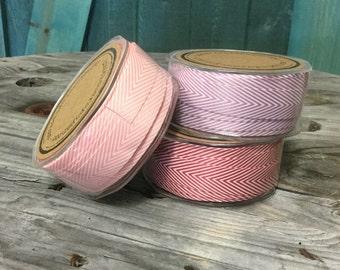 Chevron Twill Herringbone Ribbon - 1.5 Inch Width -FULL ROLL-pick your color