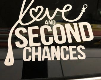 Love and Second Chances Rescue Vinyl Decal