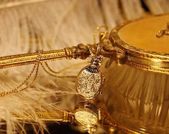 Victorian Perfume Locket,   locket necklace, natural Perfume compact, natural perfume necklace