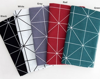 Cotton Fabric in 5 Colors By The Yard