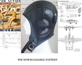 aviator,hat sewing pattern,sewing pattern