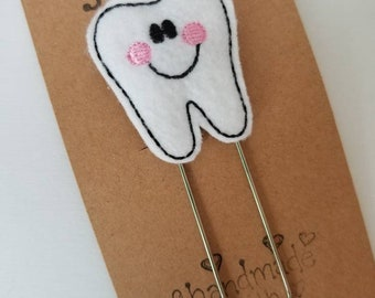 Tooth Feltie Jumbo Bookmark - XL - Planner Clip - Planner Accessory  - Small Gift