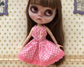 Blythe/Pullip Summer Dress, 1950's Vintage 'Bubblegum Sundress'
