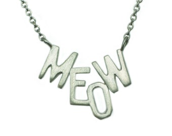 Meow Necklace in Sterling Silver