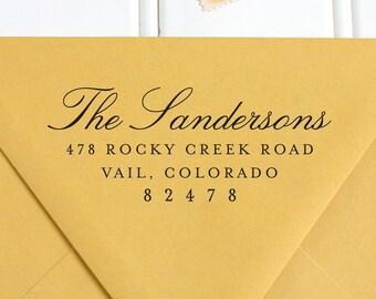 Address Stamp, Return Address Stamp, Self Inking Return Address Stamp, Calligraphy Stamp, Wedding Return Address Stamp, RSVP Stamp -  No. 28