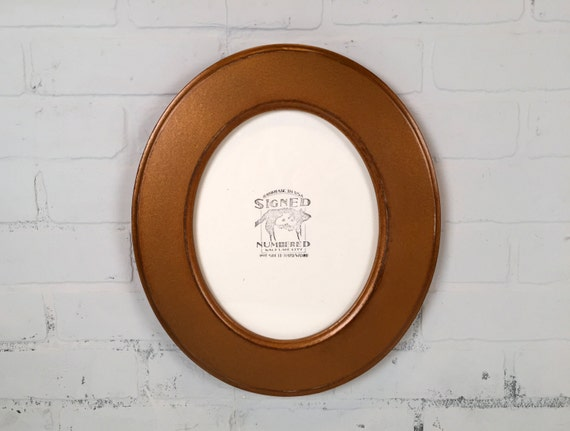 8x10 Oval Opening Picture Frame Oval Shaped Outside in Finish COLOR ...