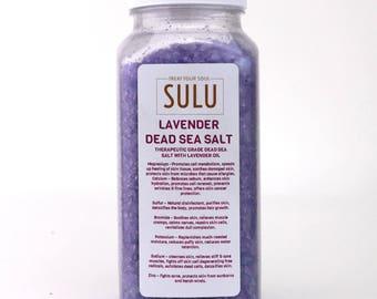 1 LB Dead Sea Bath Salt Scented with Organic Lavender Essential Oils