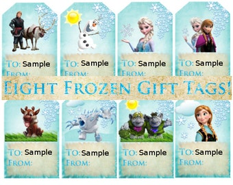 16 Printable Frozen Gift Tags! Digital download!