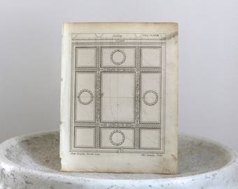1770 Ceiling Design Architectural Engraving Thomas Langley Published in London c. 1770 9 x 11 1/4 inches