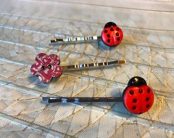 Love Bug 3pc Bobby Pin Set