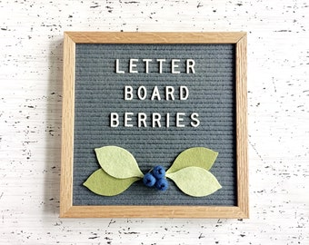 NEW Blueberries + Leaves for Your Letter Board - Photo Prop, Letter Board Decor - Party Decor - Nursery Decor