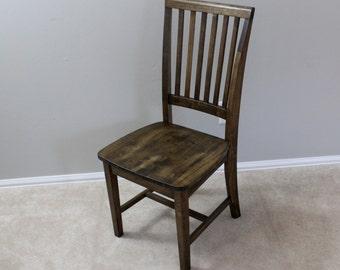 Rustic Walnut Farmhouse Chair