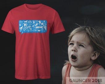 """Tee with """"Question the Tweet"""" from the """"Think For Yourself"""" Series By GAUNCER + Free Shipping"""