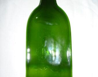 slumbped 750ml green wine bottle