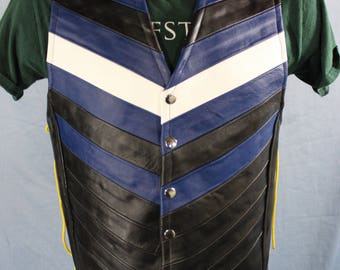 Hand Made Leather Pride Vest