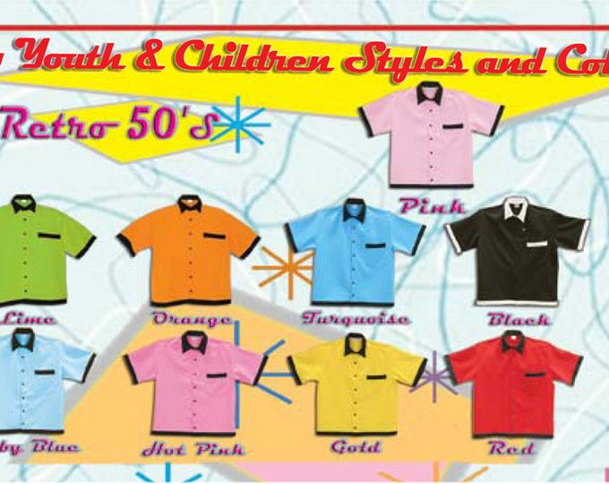 Kids Bowling Shirts - Free Shipping - 9 Kids and Youth Bowling Shirt Colors