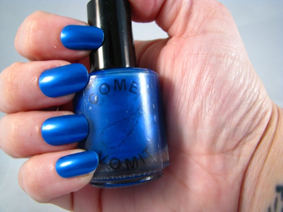 Comet Vomit: TARDIS is Love nail polish