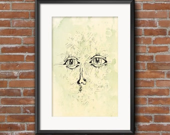 Waves / Art Print / A4 / Illustration / Poster/ Home Decor / Kids Room / Nursery / Wall Art / Gift