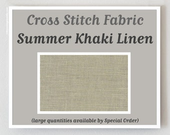 SUMMER KHAKI 36 40 ct. counted cross stitch fabric linen count Zweigart at thecottageneedle.com hand embroidery
