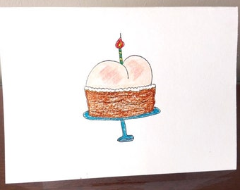 BUTTCAKE. no ifs or ands, just a butt. i made you a butt cake. happy booty to you. hope your b-day's a gas. happy day, buttcake. bottoms up.