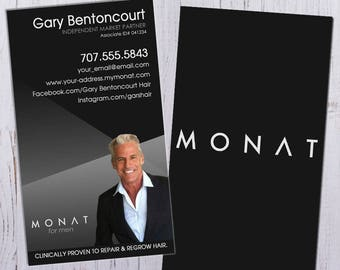 Monat Business Cards - For Men with Picture - Durable 16pt - Rich Matte Finish -PRINTED and SHIPPED directly to YOU!