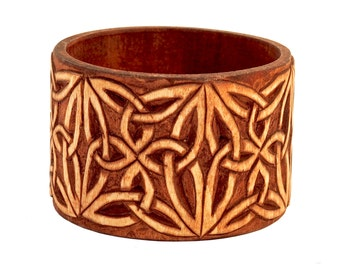 Wooden Jewelry Hand Carved Bracelet No 2