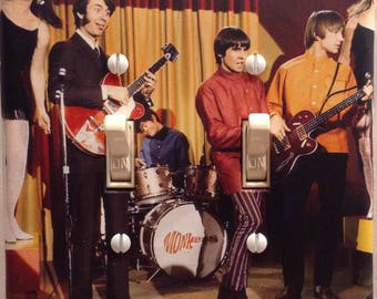 The Monkees Davy Jones Micky Dolenz Peter Tork Michael Nesmith Double Light Switch Cover Bedroom Bathroom Den Music Office Free US Shipping