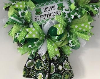 St Patricks Day Wreath, Irish Dancer Wreath, St Patrick's Day Decoration, St Patrick's  Day Decor, Front Door Decor, Home Decor, Irish Decor