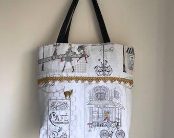 Tote Bag Retro Paris