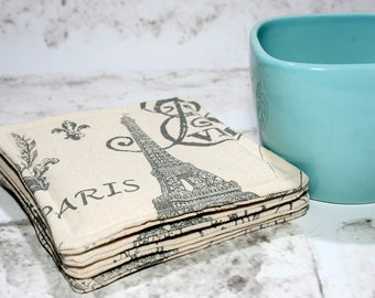 Gray Paris Coasters, Set of 4
