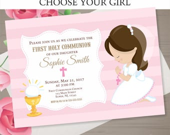 Communion invitation Etsy